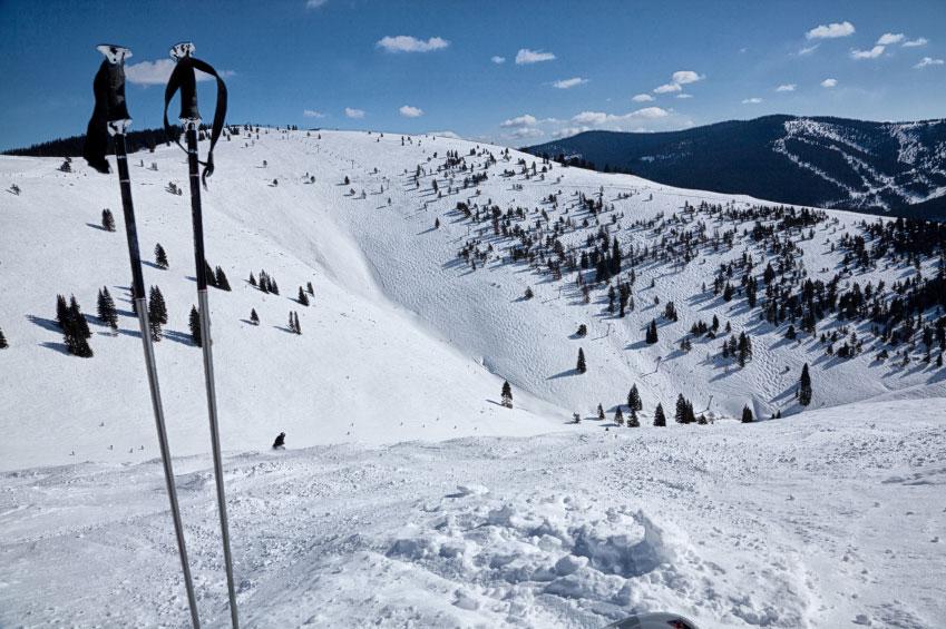 Vail Skiing Back Bowls