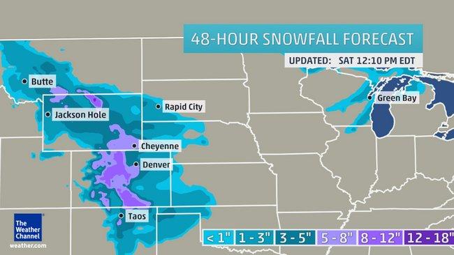 48 hour snow