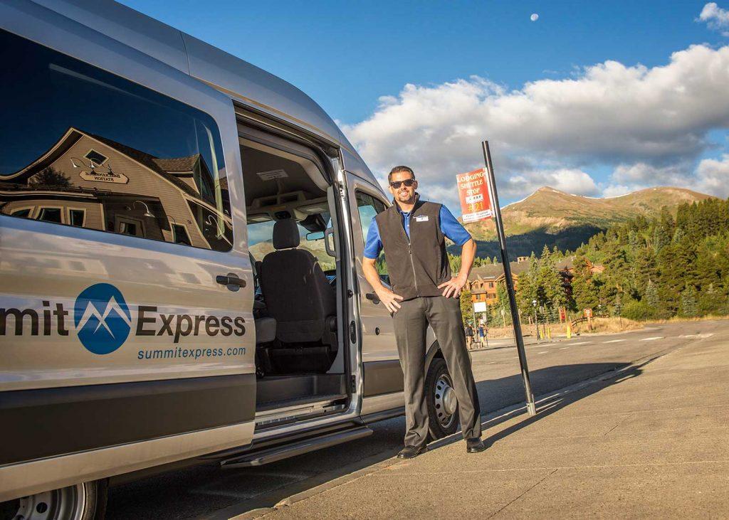 Summit Express Breckenridge Transit Center Door Open
