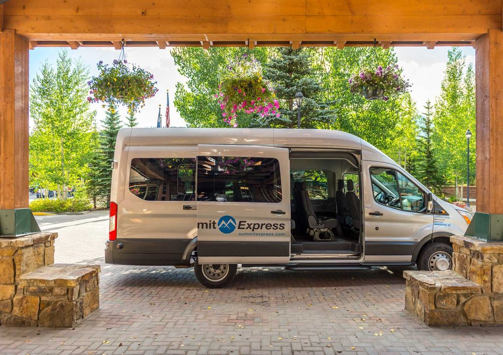 Summit Express Van Breckenridge Doors Open