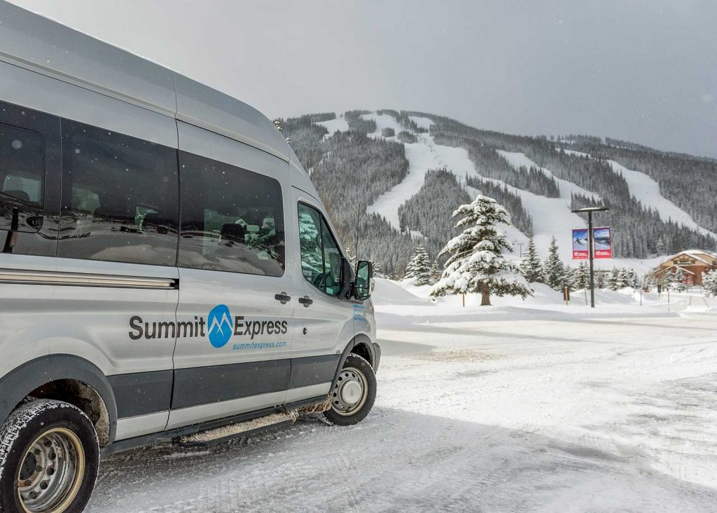 Summit Express Van view towards Copper Mountain