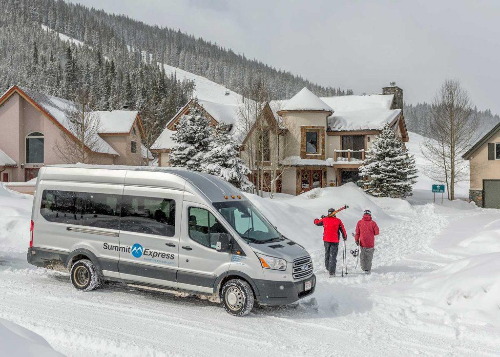 Summit Express Vans Winter skier view