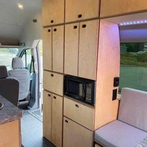 Ford Transit Conversion Van Cabinets