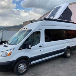 Ford Transit Conversion Van Front with Tent