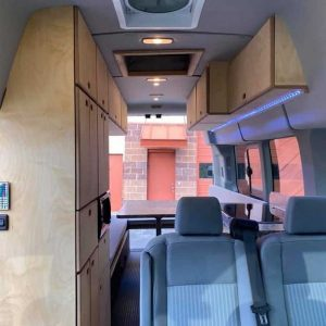 Ford Transit Conversion Van Interior with Seats