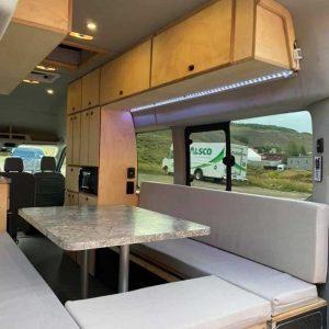 Ford Transit Conversion Van Rear Interior