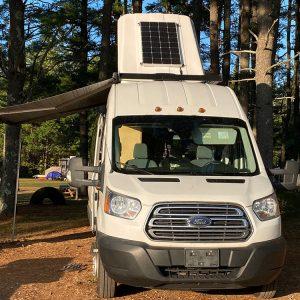 Summit Express Transit Van in the Wild camper popup with solar